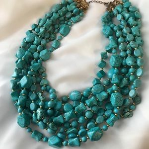 Eight Strand Turquoise Statement Necklace